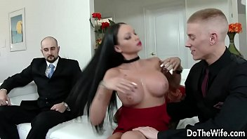 wife front cuckold of in gangfucked husband Danny medina jerking his massive gay gays